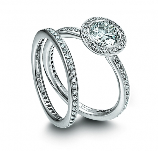 Bridal Wedding Rings White Gold Rings Diamond Rings Engagement Rings