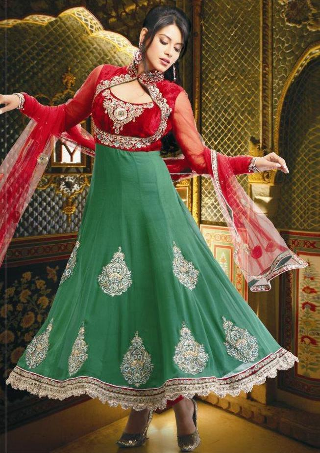 95cc0ce0b12 Anarkali Fancy Frocks-Anarkali Umbrella Frocks New Fashion Dress Designs  2013