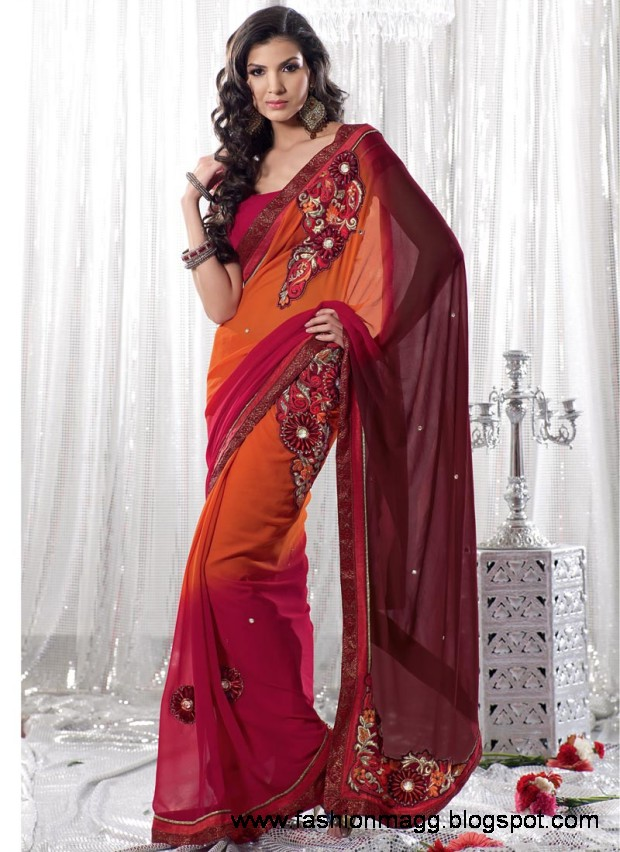 Saree Design New Latest Trend Indian Pakistani Sarees Design 2013 Study Fashion In Nyc