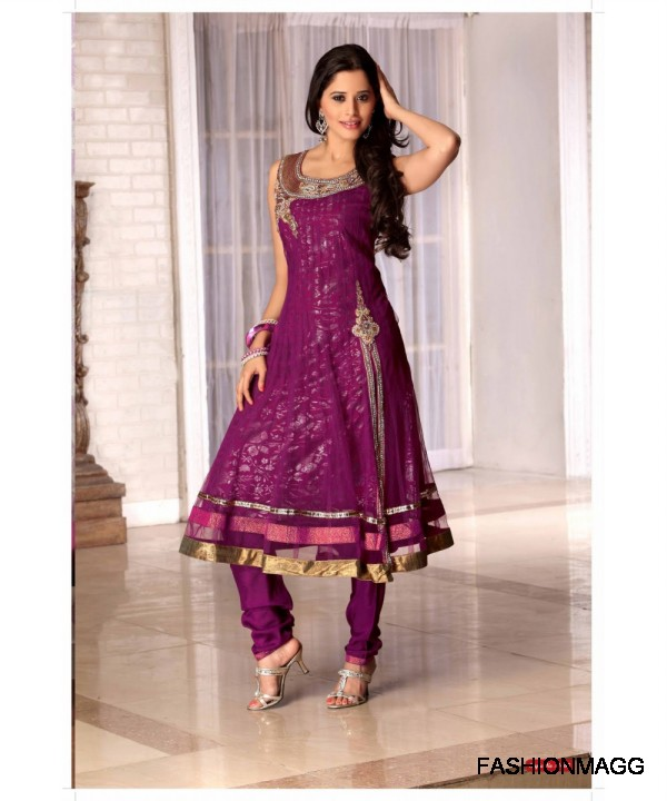 Anarkali Indian Umbrella Frock New Latest Fashionable Dress Designs 2013 Collection Women And