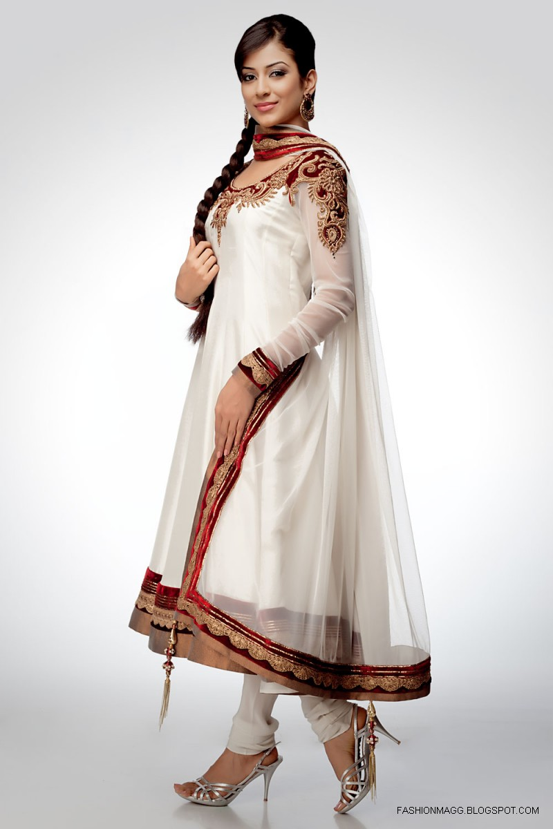 Latest Fashion Trend In Saree: Fashion & Style: Anarkali Umbrella Frocks-Anarkali Fancy