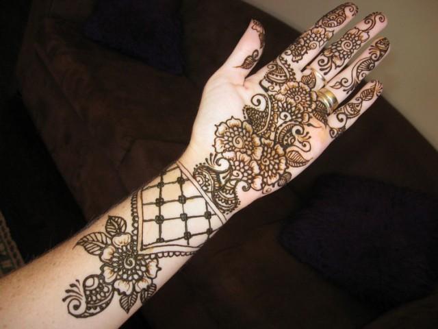 Henna Mehndi Designs For Hand Feet Arabic Beginners Kids Girl 2013
