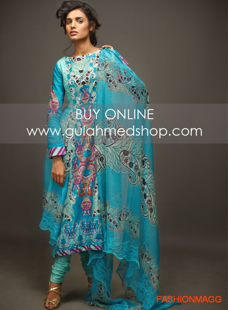 Gul-Ahmed-Eid-Lawn-Dresses-2012-13-Anarkali-style-umbrella-fancy-Frocks-2