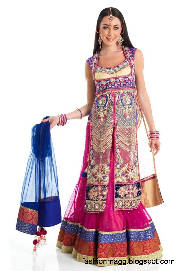 Anarkali-Frocks-in-Double-Shirts-Style-Double-Shirt-Dresses-2012-13-5