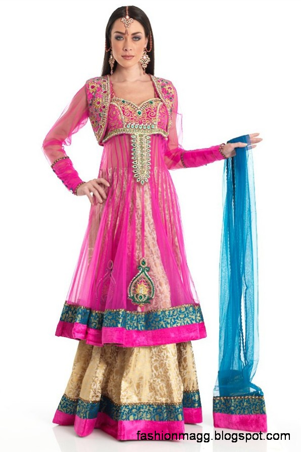 Anarkali-Frocks-in-Double-Shirts-Style-Double-Shirt-Dresses-2012-2013-