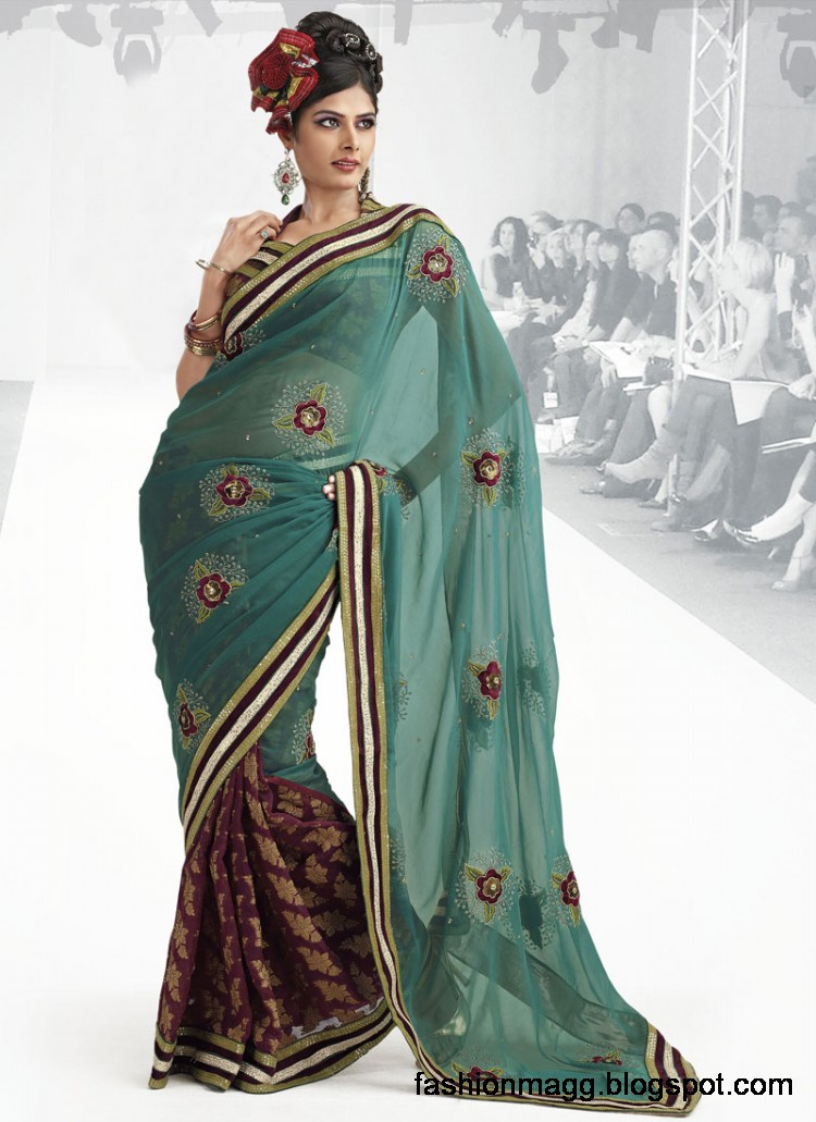 Indian-Pakistani-Saree-Banarasi-Saree-Lehenga-Designs-2012-13-7