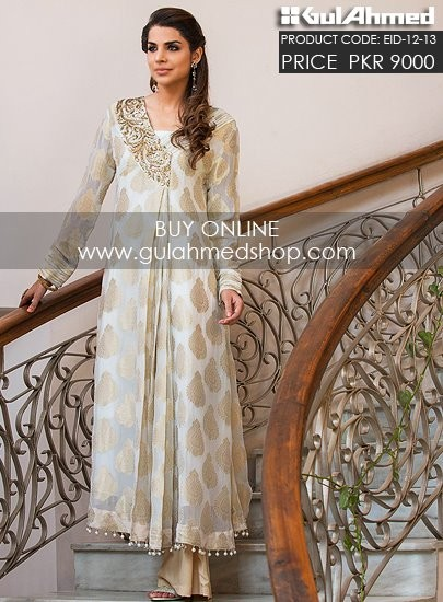 Gul-Ahmed-Eid-Dresses-2012-13-Gul-Ahmed-Embroidered-Double-Shirt-Gown-Dresses-1
