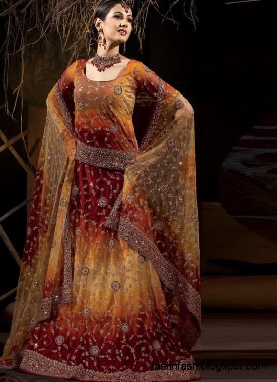 Indian Pakistani Beautiful Bridal Wedding Dress Collection 2013