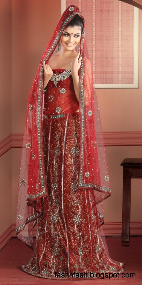 Indian-Pakistani Beautiful Bridal Wedding Dress Collection 2013-Bridal