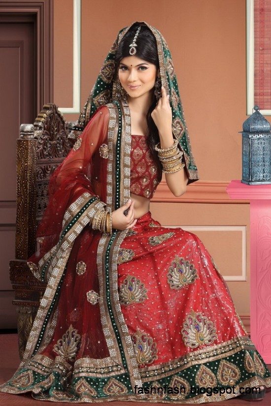 Indian-Pakistani-Beautiful-Bridal-wedding-Dress-Collection-2012-2013-Bridal-Saree-Lehanga-2