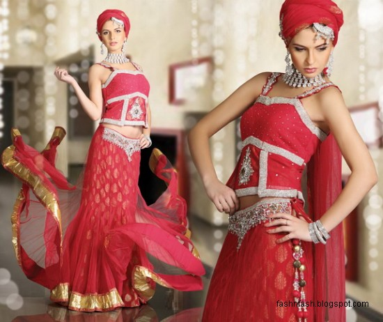 Indian-Pakistani-Beautiful-Bridal-wedding-Dress-Collection-2012-2013-Bridal-Saree-Lehanga-3