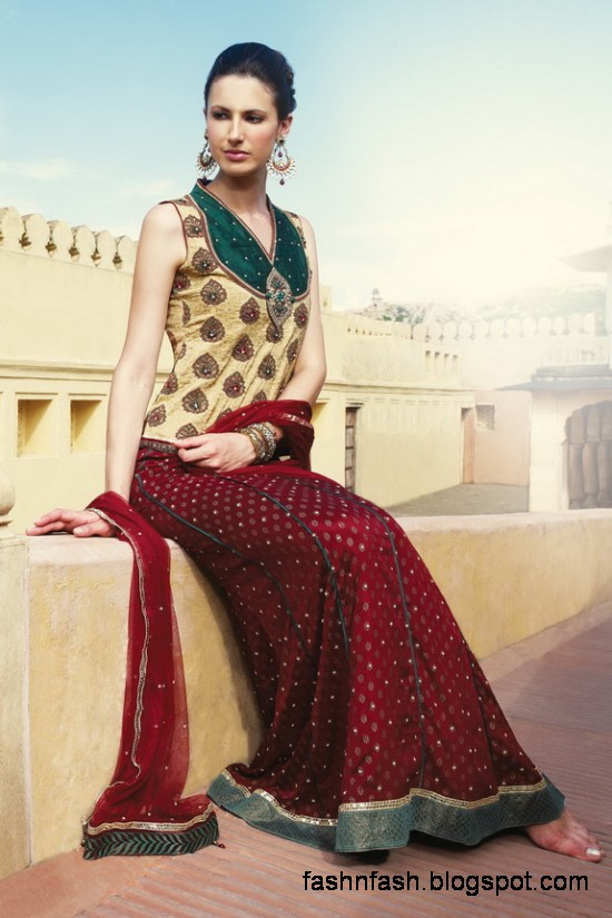 Indian-Pakistani-Beautiful-Bridal-wedding-Dress-Collection-2012-2013-Bridal-Saree-Lehanga-4