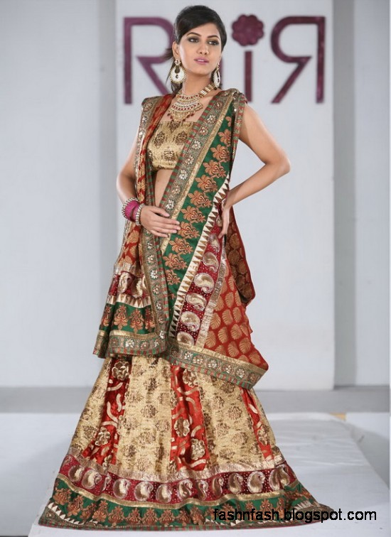 Indian-Pakistani-Beautiful-Bridal-wedding-Dress-Collection-2012-2013-Bridal-Saree-Lehanga-9