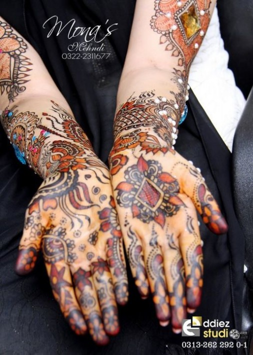 Beautiful-Indian-Bridal-Wedding-New-Mehndi-Designs-Embroidery-Dulhan-Feet-Mehndi-7