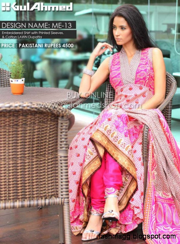 Gul Ahmed Springs Summer Dresses 2013 Collection Gul Ahmed