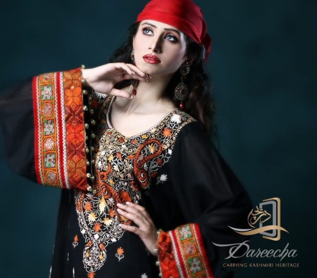 New-Neckline-Dress-Designs-by-Dareecha-Embroidered-Kashmiri-Winter-Dress-Collection-2013-