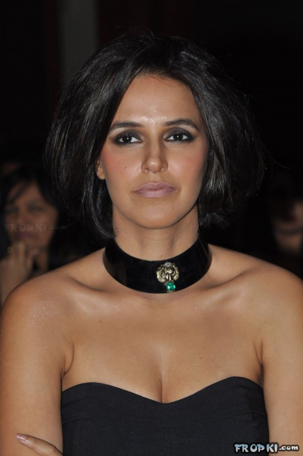 Bollywood-Indian Celebrities In Deep Neck-Open Chest Dress -6015