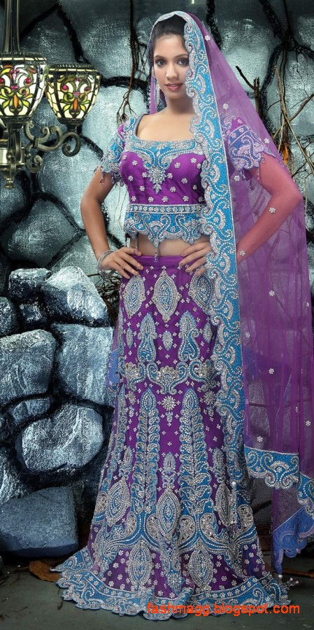 Bridal-Brides-Wedding-Dress-Beautiful-Indian-Bridal-Valima-Lehanga-Choli-Collection-8