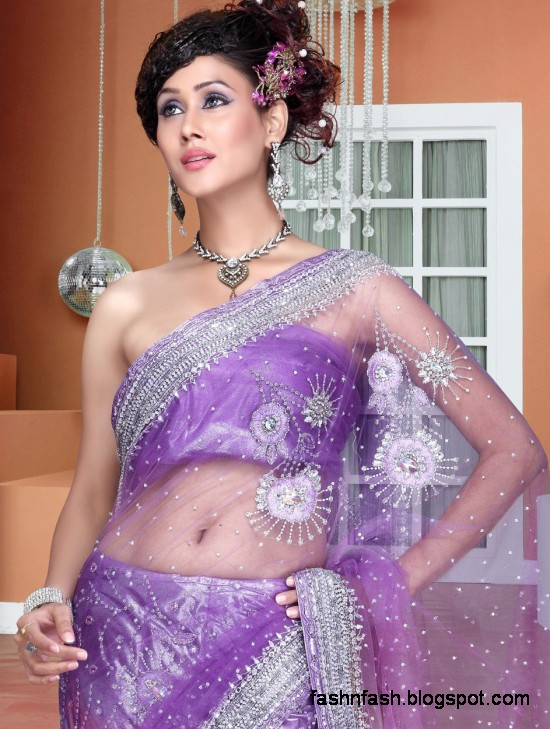 Bridal-Wedding-Saree-Dress-Designs-Indian-Pakistani-Fancy-Bridal-Wedding-Party-Wear-Saree-Collection-1