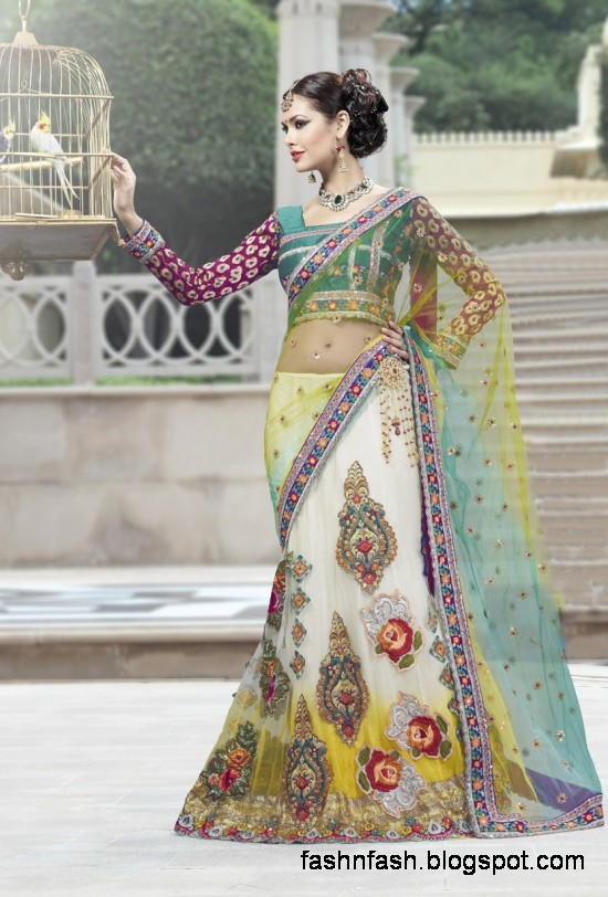 Bridal-Wedding-Saree-Dress-Designs-Indian-Pakistani-Fancy-Bridal-Wedding-Party-Wear-Saree-Collection-2