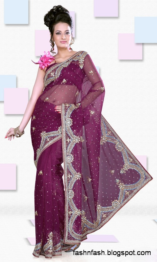 Bridal-Wedding-Saree-Dress-Designs-Indian-Pakistani-Fancy-Bridal-Wedding-Party-Wear-Saree-Collection-4