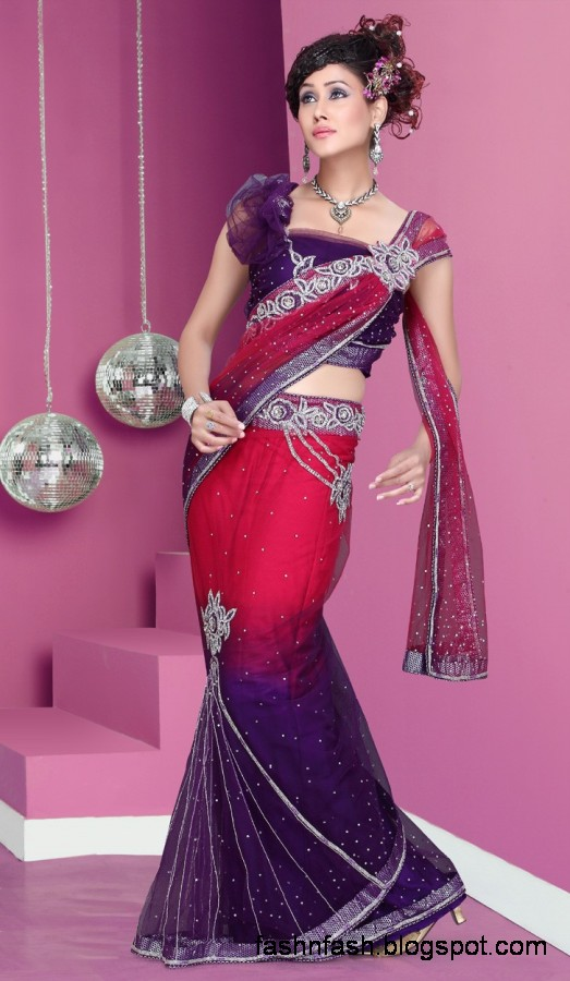 Bridal-Wedding-Saree-Dress-Designs-Indian-Pakistani-Fancy-Bridal-Wedding-Party-Wear-Saree-Collection-5