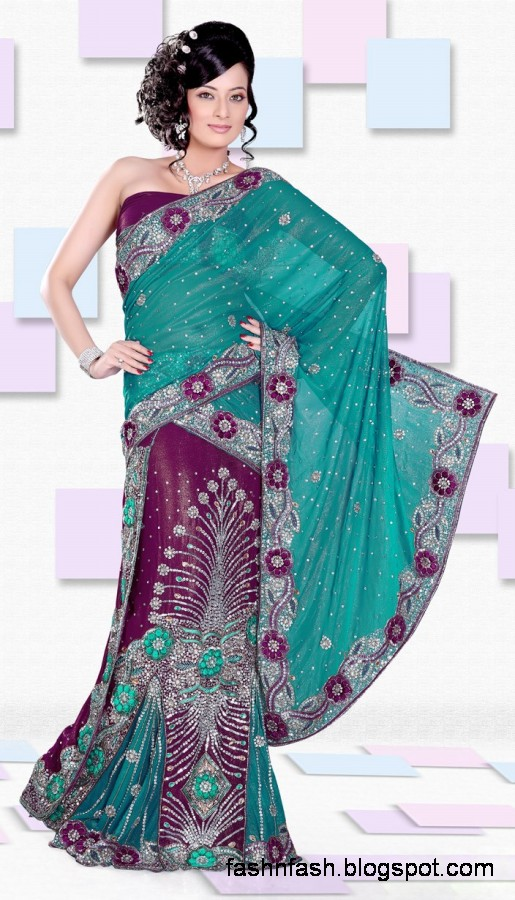 Bridal-Wedding-Saree-Dress-Designs-Indian-Pakistani-Fancy-Bridal-Wedding-Party-Wear-Saree-Collection-6