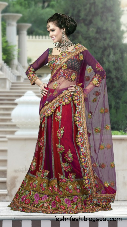 Bridal-Wedding-Saree-Dress-Designs-Indian-Pakistani-Fancy-Bridal-Wedding-Party-Wear-Saree-Collection-7