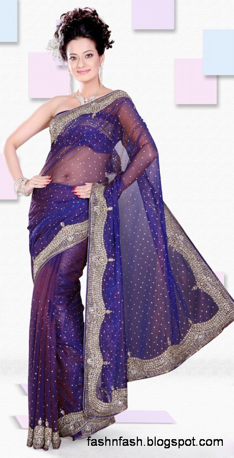 Bridal-Wedding-Saree-Dress-Designs-Indian-Pakistani-Fancy-Bridal-Wedding-Party-Wear-Saree-Collection-9
