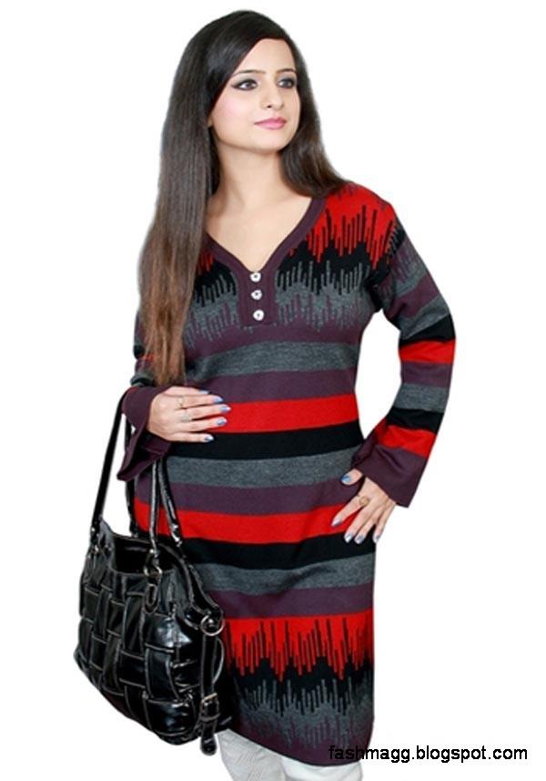 Indian Kurti New Woolen Winter Dress Collection-Girls-Womens