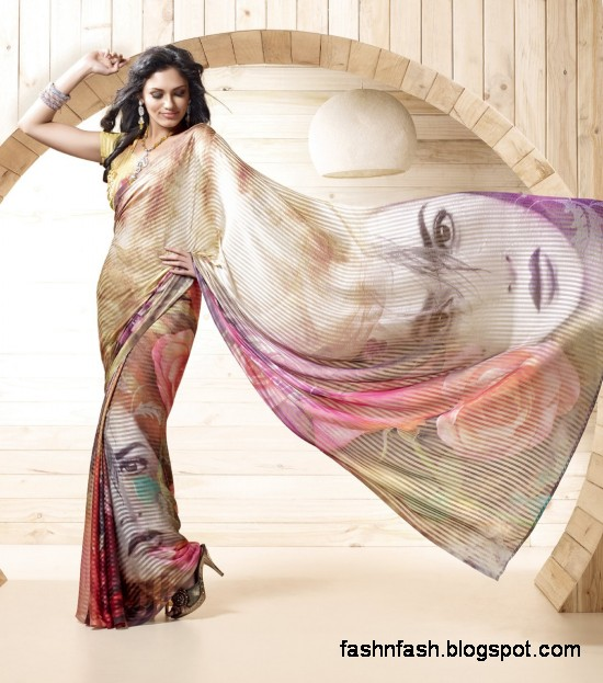 Indian-Printed-Saree-Design-Beautiful-New-Latest-Girls-Womens-Saree-Images-Photos-1