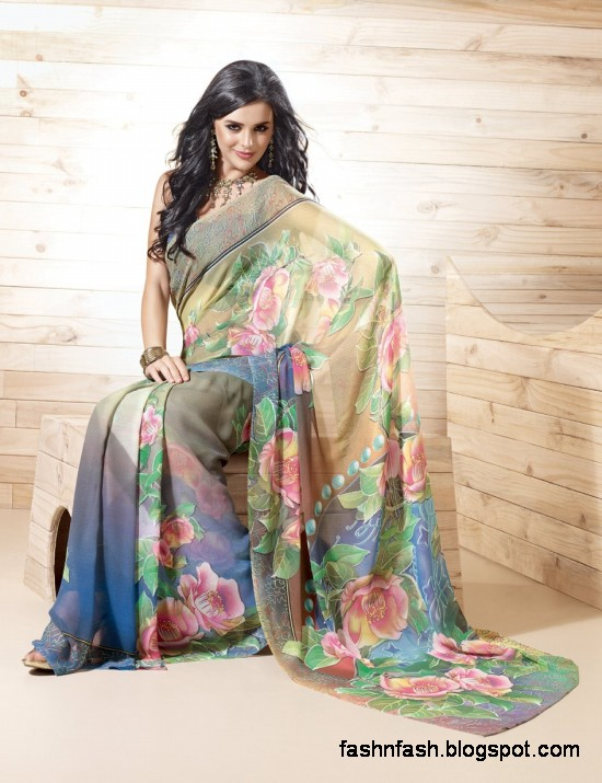 Indian-Printed-Saree-Design-Beautiful-New-Latest-Girls-Womens-Saree-Images-Photos-2