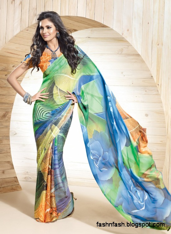 Indian-Printed-Saree-Design-Beautiful-New-Latest-Girls-Womens-Saree-Images-Photos-3