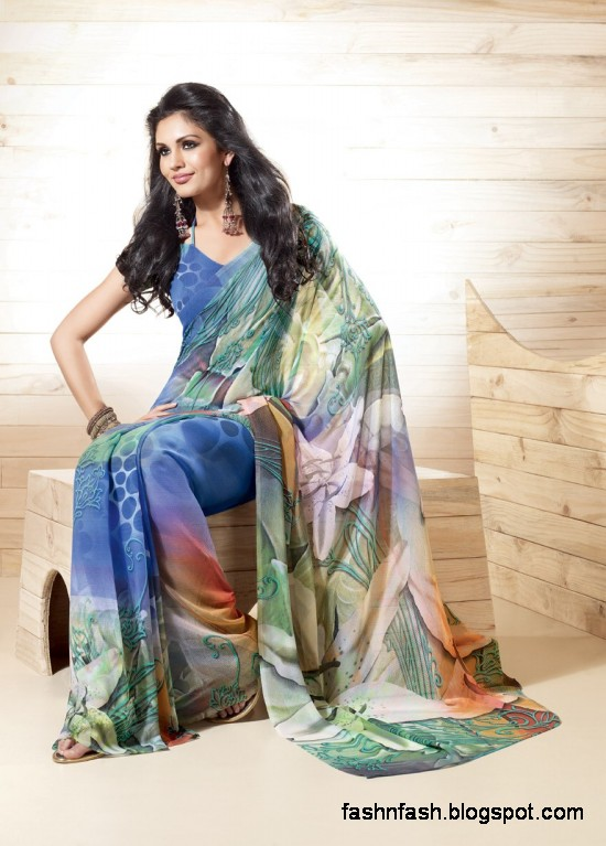 Indian-Printed-Saree-Design-Beautiful-New-Latest-Girls-Womens-Saree-Images-Photos-4