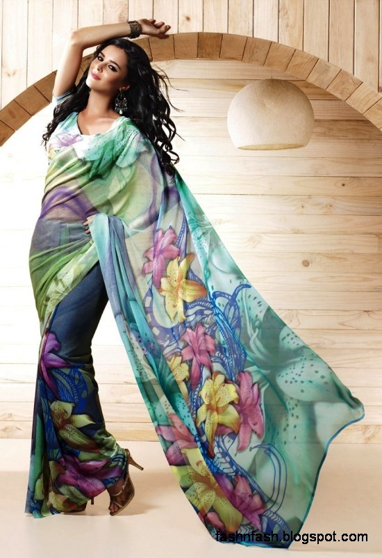 Indian-Printed-Saree-Design-Beautiful-New-Latest-Girls-Womens-Saree-Images-Photos-5