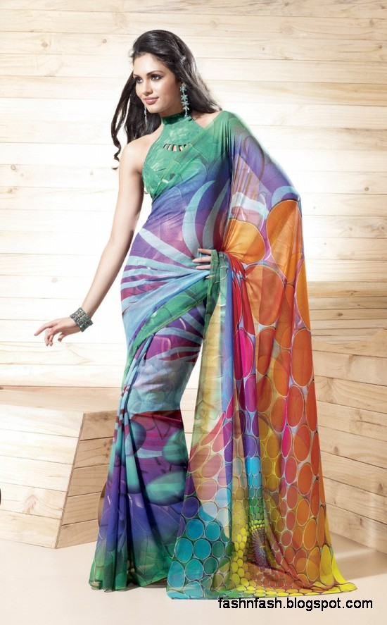 Indian-Printed-Saree-Design-Beautiful-New-Latest-Girls-Womens-Saree-Images-Photos-7