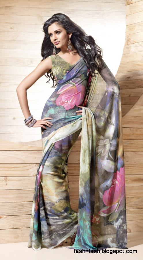 Indian-Printed-Saree-Design-Beautiful-New-Latest-Girls-Womens-Saree-Images-Photos-9