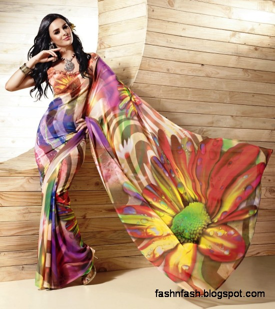 Indian-Printed-Saree-Design-Beautiful-New-Latest-Girls-Womens-Saree-Images-Photos-