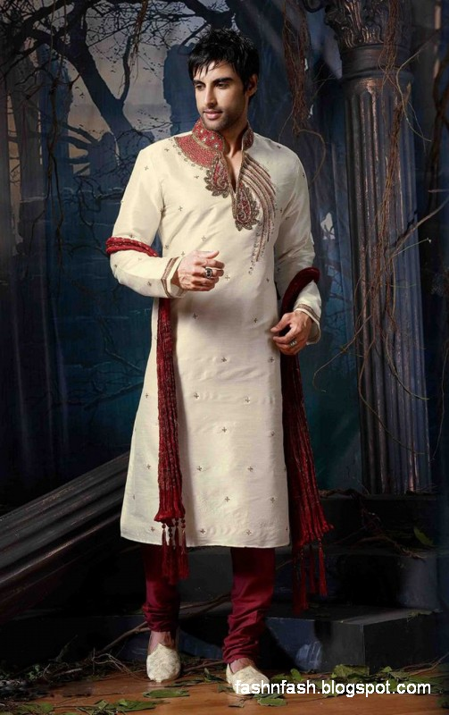 Kurtas Designs-Men-Male New Latest Silk-Cotton Kurta Style Design Collection9