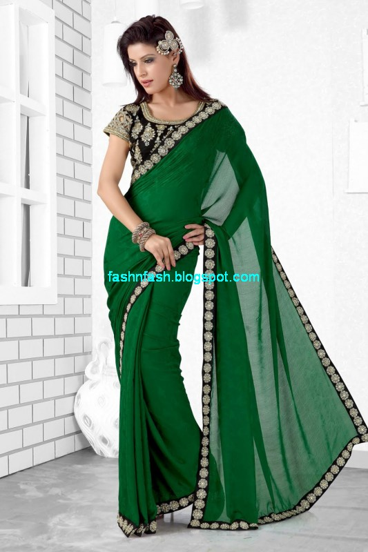 Saree-Designs-Lehanga-Choli-Style-Embroidered-Bridal-Party-Wear-Sari-New-Fashion-Clothes-7