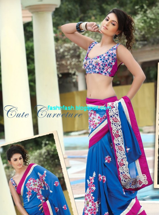 Saree-Designs-Lehanga-Choli-Style-Embroidered-Bridal-Party-Wear-Sari-New-Fashion-Clothes-8