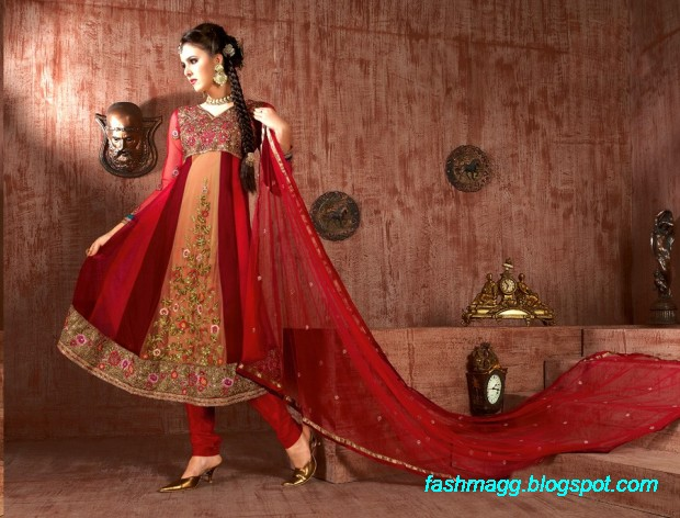 Anarkali-Fancy-Bridal-Wedding-Wear-Frocks-Dress-New-Fashionable-Clothes-Designs-Collection-2013-1