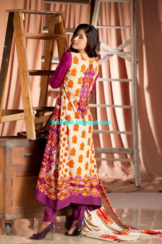 Firdous Springs Summer Lawn Collection 2013-Firdous ZTM Chilman Regular Fashionable Lawn Prints1