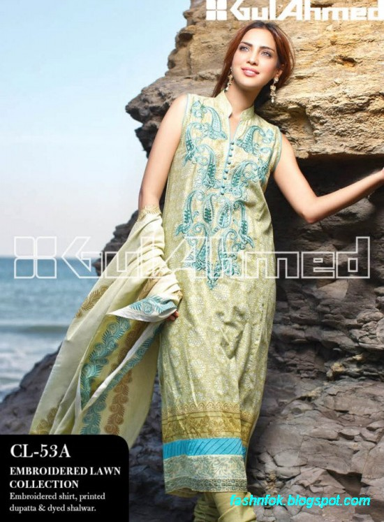 16a426f4e0 Gul Ahmed Lawn Summer Spring New Fashion Dress Designs Collection ...