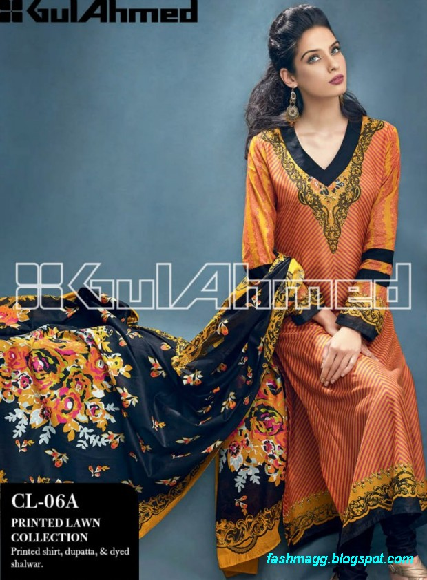 Gul-Ahmed-Lawn-Summer-Spring-New-Fashionable-Dress-Designs-Collection-2013-12