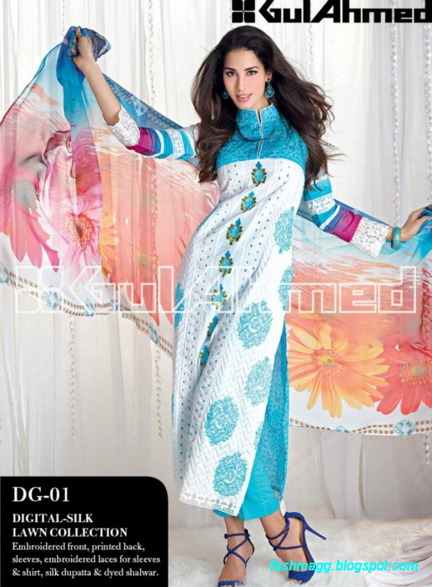 Gul-Ahmed-Lawn-Summer-Spring-New-Fashionable-Dress-Designs-Collection-2013-13