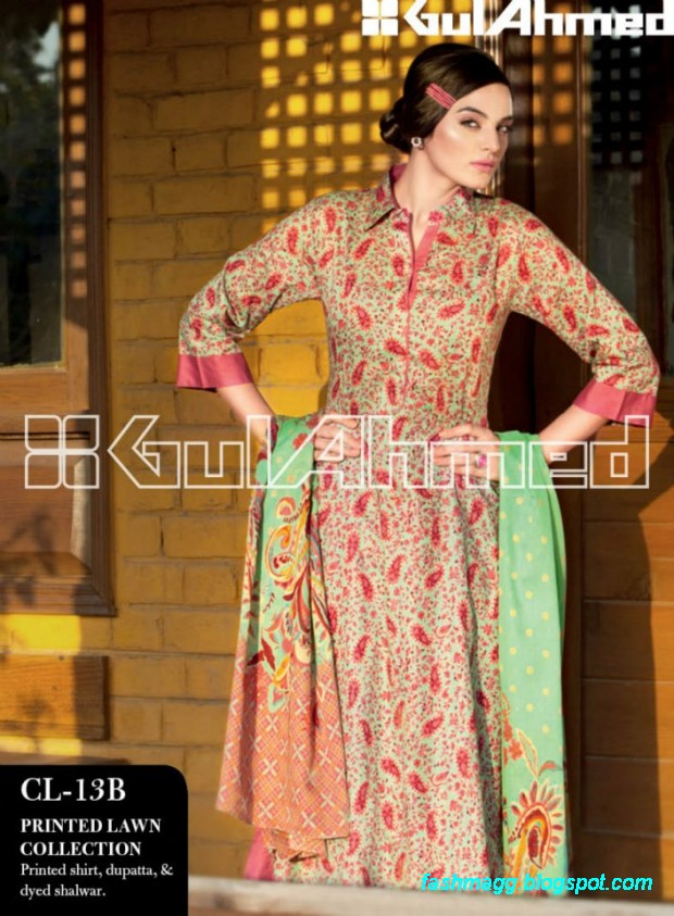 Gul-Ahmed-Lawn-Summer-Spring-New-Fashionable-Dress-Designs-Collection-2013-3