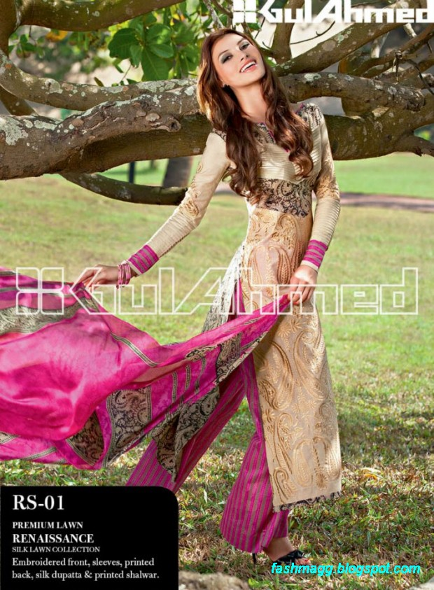 Gul-Ahmed-Lawn-Summer-Spring-New-Fashionable-Dress-Designs-Collection-2013-4