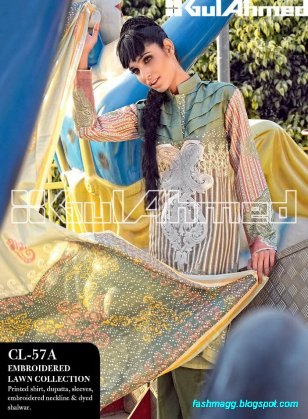 Gul-Ahmed-Lawn-Summer-Spring-New-Fashionable-Dress-Designs-Collection-2013-9