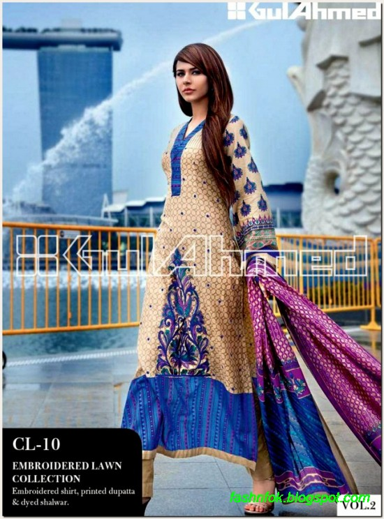 Gul-Ahmed-Lawn-Vol-2-Spring-Summer-New-Fashionabe-Clothes-Dress-Designs-Collection-2013-1